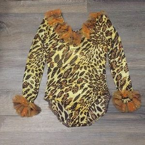 Cheetah Leotard Dance Costume IC 7/8